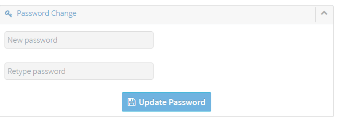 Changing your account password